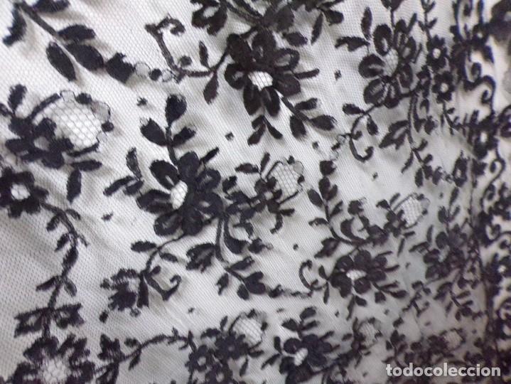 Antigüedades: antigua mantilla rectangular bonito trabajo decoracion floral - Foto 10 - 262366595