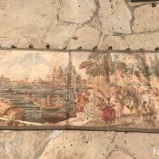 Antigüedades: GRAN TAPIZ ROMÁNTICO DE VENECIA PRINCIPIOS DEL S.XX.. Lote 262367605