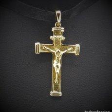 Antigüedades: PRECIOSA CRUZ ORO 18K CON CRISTO EN RELIEVE. Lote 262373915
