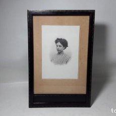 Antigüedades: ANTIGUO MARCO PORTAFOTOS EN MADERA LACADA AÑOS 20. MEDIDAS FOTOGRAFIADAS. Lote 262384335