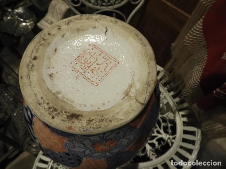 Antigüedades: JARRON DE PORCELANA CHINA DECORADO A MANO ANTIGUO - Foto 9 - 262416600