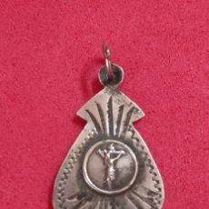 Antigüedades: ANTIGUA MEDALLA RELIGIOSA DE PLATA CINCELADA STO CRISTO PIERA (ANOIA-BARCELONA). Lote 262426110