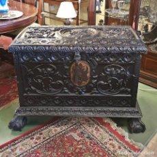 Antigüedades: BAÚL CASTELLANO ANTIGUO. Lote 262446600
