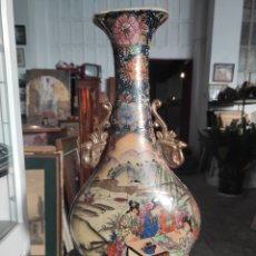 Antigüedades: JARRÓN CHINO, CUÑO SATSUMA, 44CM. Lote 262455570