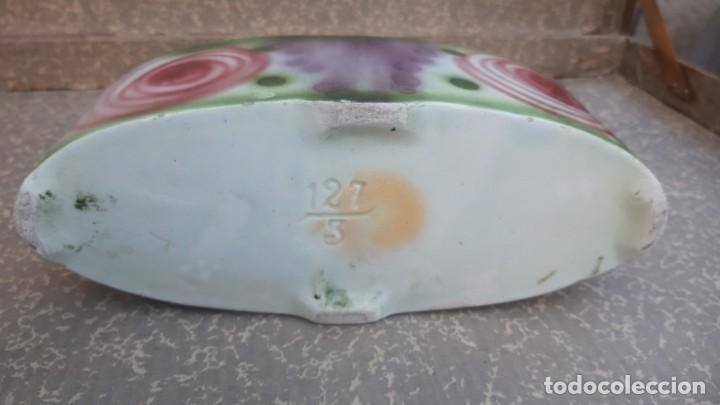 Antigüedades: Macetero modernista, de porcelana esmaltada, numerado. - Foto 7 - 262462190