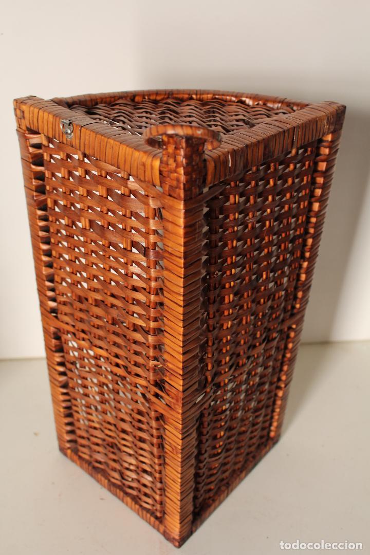 Antigüedades: repisa rinconera mimbre - Foto 2 - 262504020