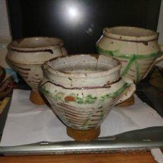 Antigüedades: TRES MORTEROS DE TERUEL S.XIX. Lote 262507850