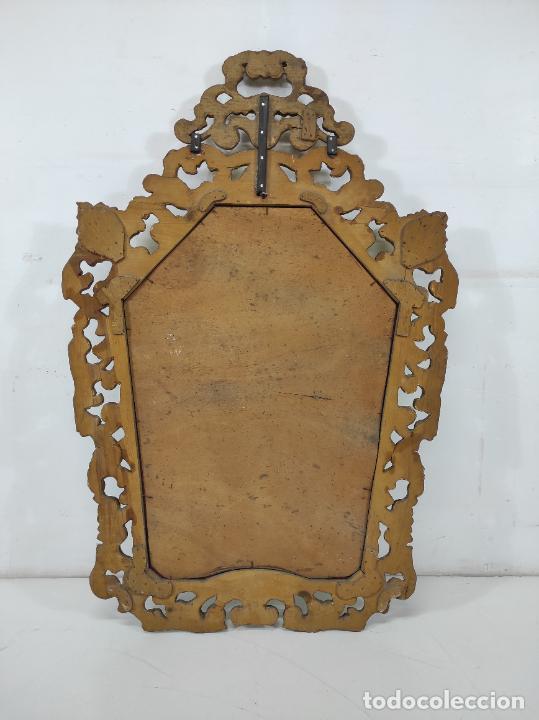 Antigüedades: Bonito Espejo Antiguo - Cornucopia en Madera Tallada y Dorada en Pan de Oro - Foto 18 - 262525340