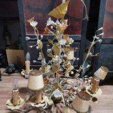 Antigüedades: LAMPARA METAL PINTADO. Lote 262544555