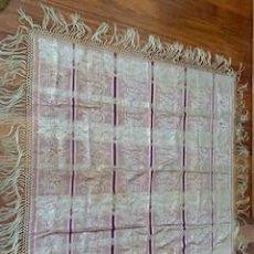 Antigüedades: EXCEPCIONAL Y RARO MANTÓN ISABELINO EN SEDA BROCADA. S. XIX.. Lote 262565440