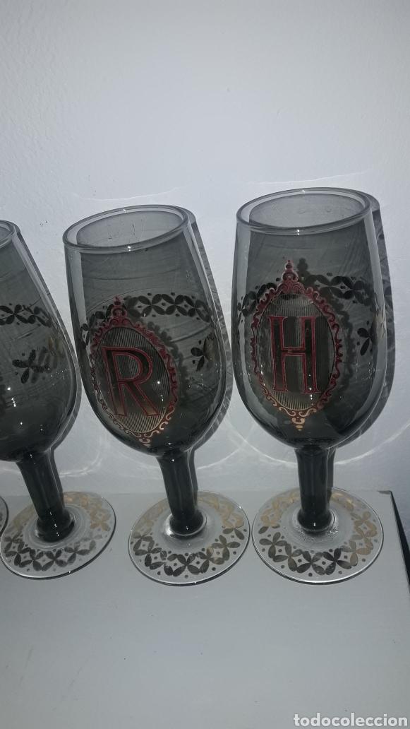 Antigüedades: Copas con letras antiguas vintage E Y R H - Foto 2 - 262567590