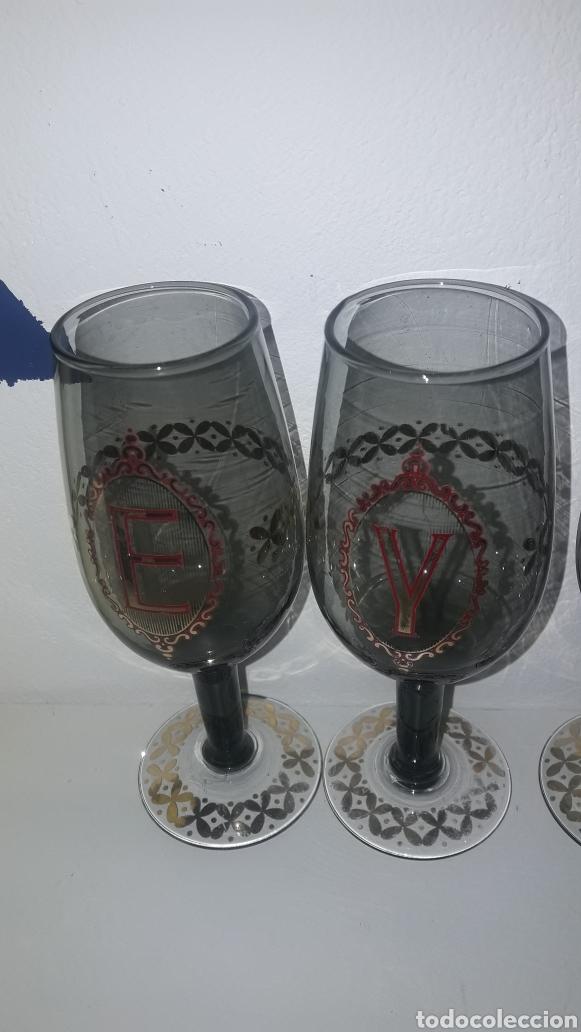 Antigüedades: Copas con letras antiguas vintage E Y R H - Foto 3 - 262567590