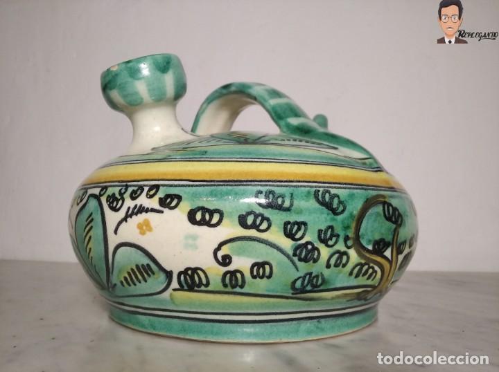 Antigüedades: ANTIGUO BOTIJO (LA PURÍSIMA) EL PUENTE DEL ARZOBISPO - TOLEDO - FIRMADO A.C.R. - CERÁMICA ESMALTADA - Foto 5 - 262576100