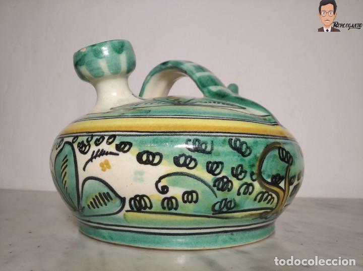 Antigüedades: ANTIGUO BOTIJO (LA PURÍSIMA) EL PUENTE DEL ARZOBISPO - TOLEDO - FIRMADO A.C.R. - CERÁMICA ESMALTADA - Foto 6 - 262576100