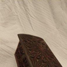Oggetti Antichi: CAJA DE MADERA, JOYERO, MUY TRABAJADA, 1200 GR.. Lote 262632265