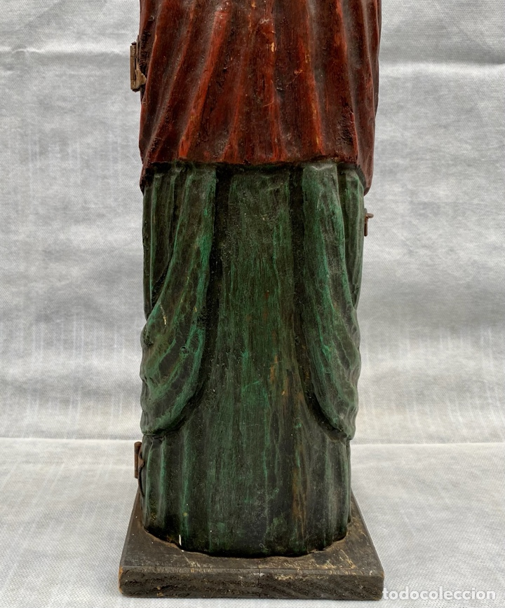 Antigüedades: Botellero o guarda botella de madera tallada antiguo - Foto 9 - 262642180