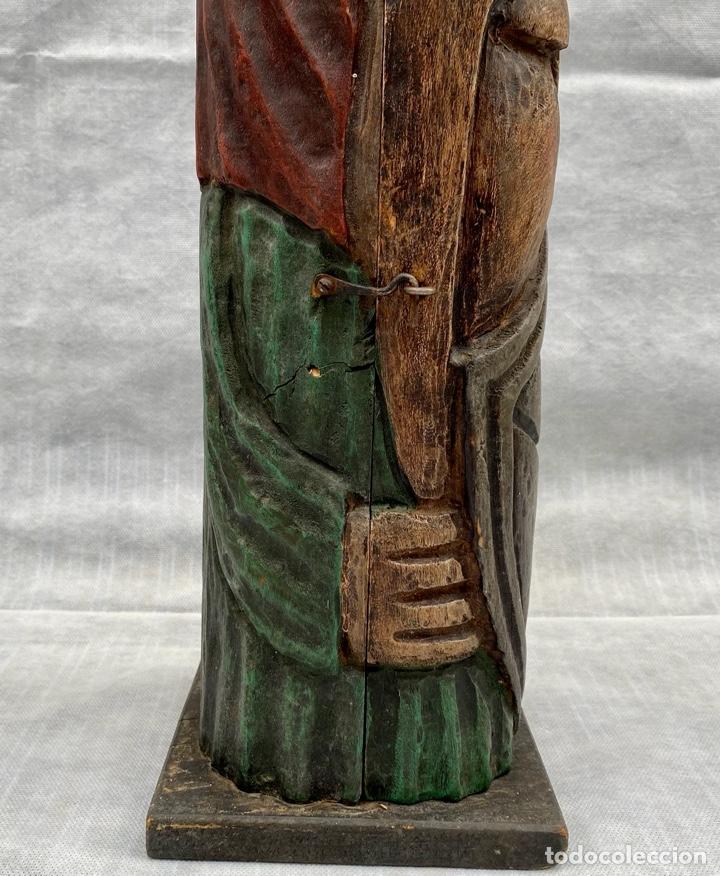 Antigüedades: Botellero o guarda botella de madera tallada antiguo - Foto 12 - 262642180