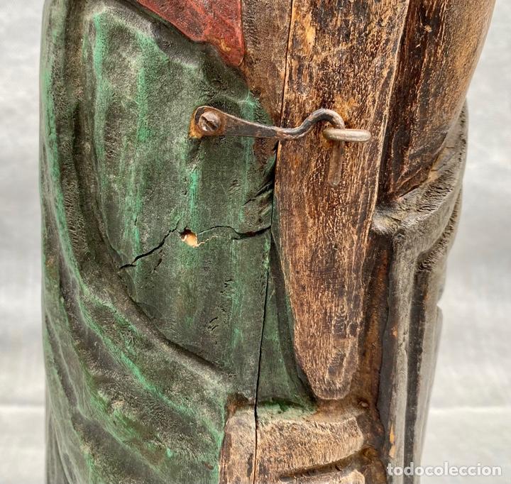 Antigüedades: Botellero o guarda botella de madera tallada antiguo - Foto 13 - 262642180