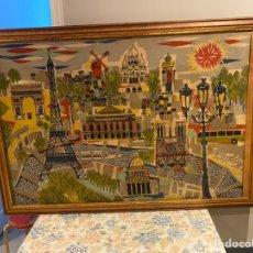 Antigüedades: PRECIO CUADRO TAPIZ FRANCÉS PARIS DEL GRAN DISEÑADOR Y ARTISTA JEAN CLAUDE BISSERY SIGLO XX. Lote 262655175