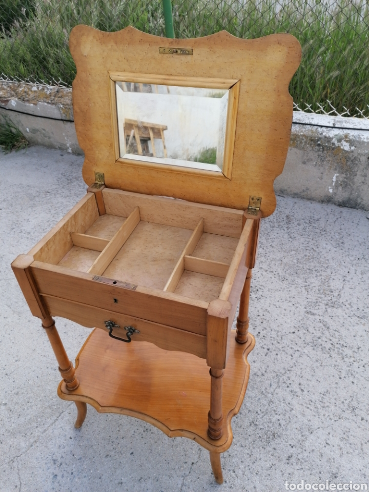 Antigüedades: Costurero de madera buen estado - Foto 5 - 262669525