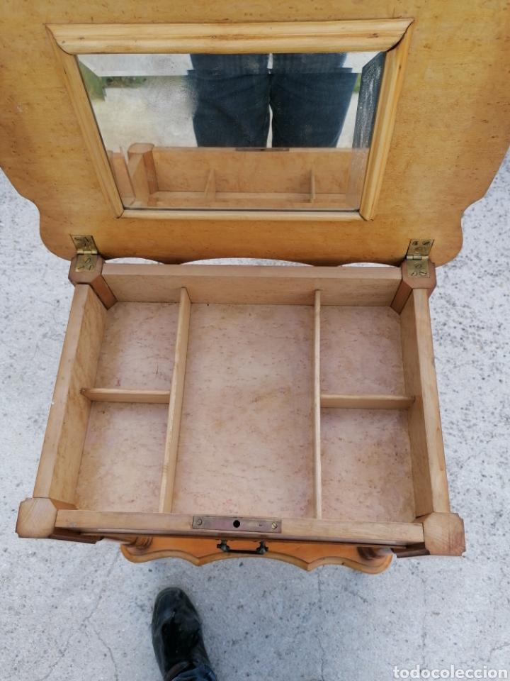 Antigüedades: Costurero de madera buen estado - Foto 6 - 262669525