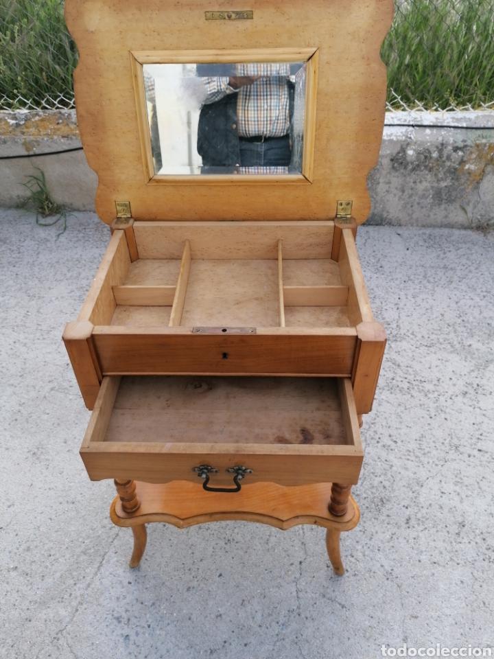Antigüedades: Costurero de madera buen estado - Foto 7 - 262669525