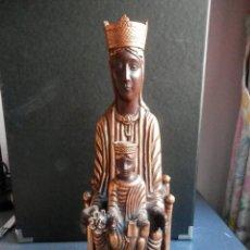 Antigüedades: TALLA DE LA IMAGEN DE LA VIRGEN DE TORRECIUDAD - DORADA - 27,5 CENTÍMETROS - 1200 GRAMOS AÑOS 80. Lote 262686605