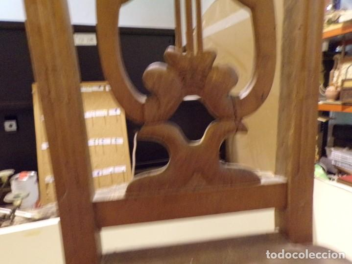 Antigüedades: bonita y decorativa silla para piano o musica con talla de madera - Foto 4 - 262698875