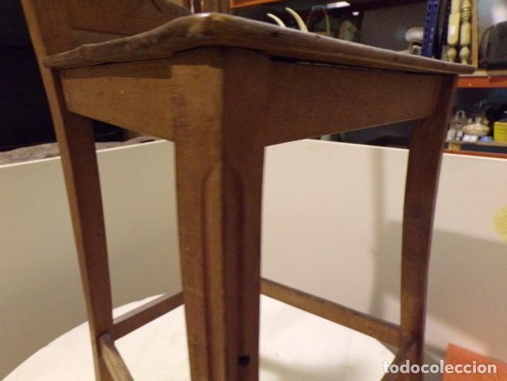 Antigüedades: bonita y decorativa silla para piano o musica con talla de madera - Foto 9 - 262698875