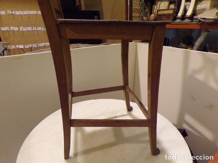 Antigüedades: bonita y decorativa silla para piano o musica con talla de madera - Foto 11 - 262698875