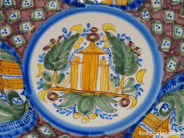 Antigüedades: (M) PLATO RIBESALBES O MANISES,PERFECTO -ANTIGUO-S.XIX (NO COPIA) 33,5 CM.VER FOTOS - Foto 2 - 262702385