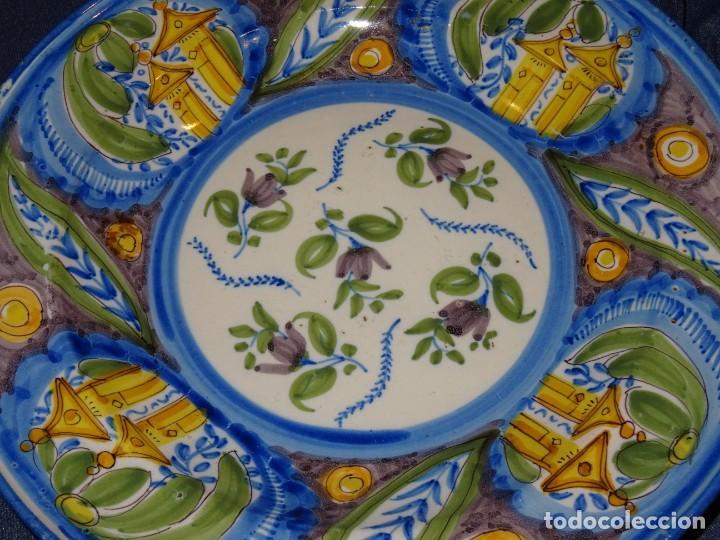 (M) PLATO RIBESALBES O MANISES ANTIGUO S.XIX (NO COPIA) 35 CM. VER FOTOS. (Antigüedades - Porcelanas y Cerámicas - Ribesalbes)
