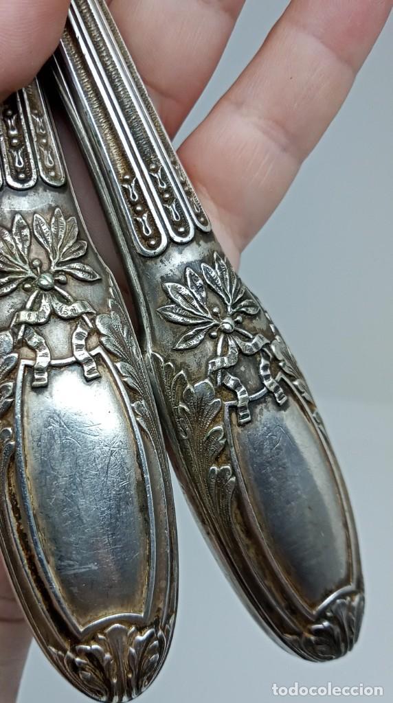 Antigüedades: Cubiertos originarios de Francia estilo LOUIS XVI de cuerno,alpaca y plata. Depose & C.Rialland B - Foto 10 - 262706120