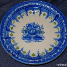 Antigüedades: (M) ANTIGUO PLATO DE MANISES S.XIX TEMAS FLORALES , BUEN ESTADO . 26 CM.. Lote 262717110