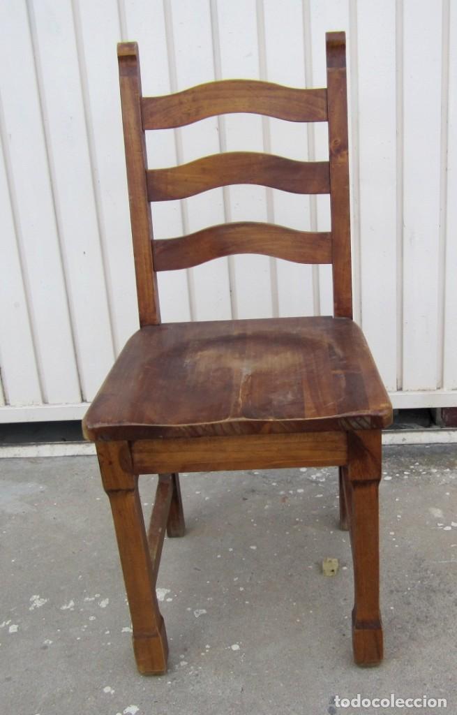 Antigüedades: 10 sillas rusticas de madera SXX - Foto 3 - 262737330