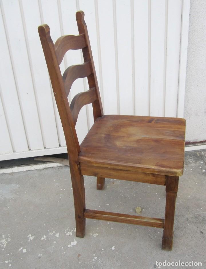Antigüedades: 10 sillas rusticas de madera SXX - Foto 5 - 262737330