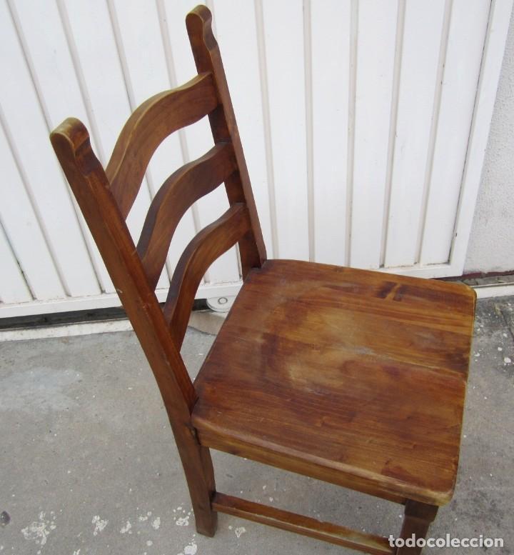 Antigüedades: 10 sillas rusticas de madera SXX - Foto 6 - 262737330