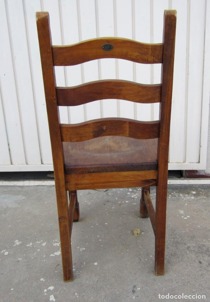Antigüedades: 10 sillas rusticas de madera SXX - Foto 7 - 262737330