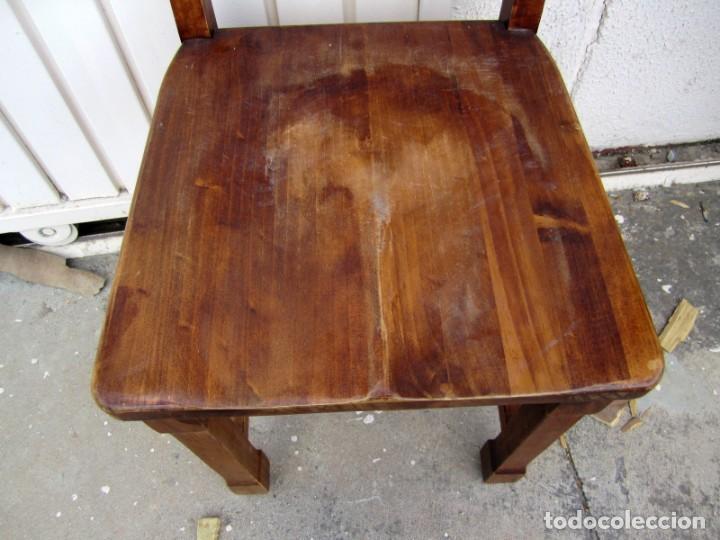Antigüedades: 10 sillas rusticas de madera SXX - Foto 9 - 262737330
