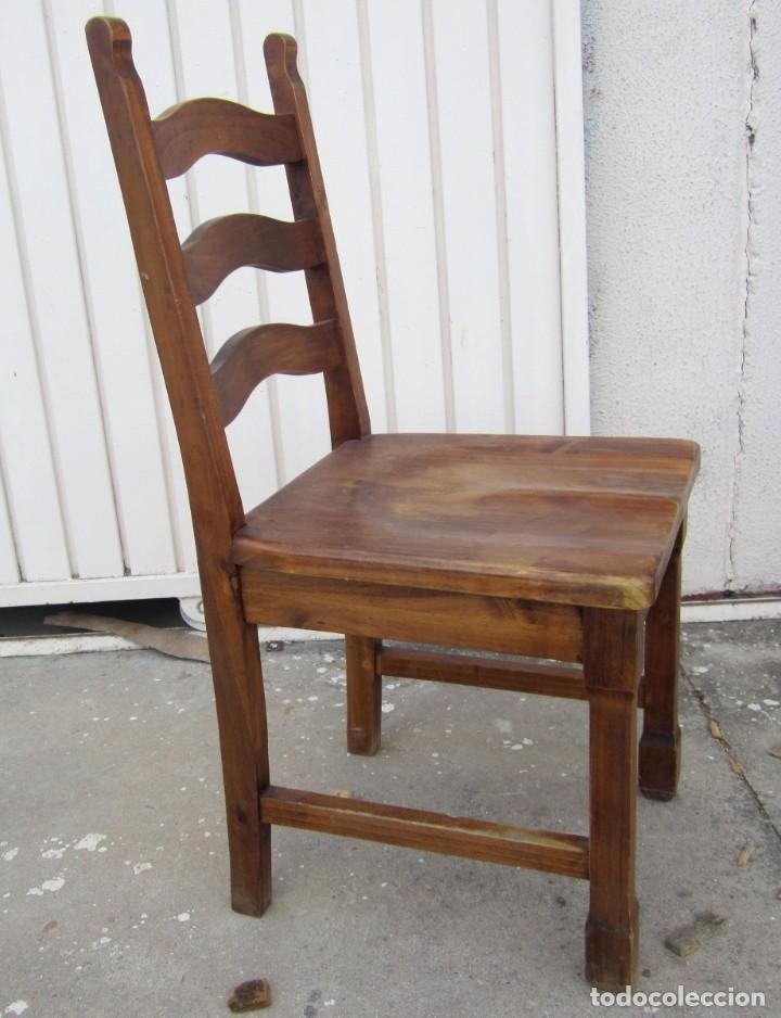Antigüedades: 10 sillas rusticas de madera SXX - Foto 10 - 262737330