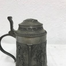 Antiquités: PEQUEÑA JARRA CON TAPA SKS ZINN. Lote 262758555