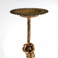 Antigüedades: MESA MARTINI DE METAL DORADO. MID CENTURY. AÑOS 50. Lote 262768335