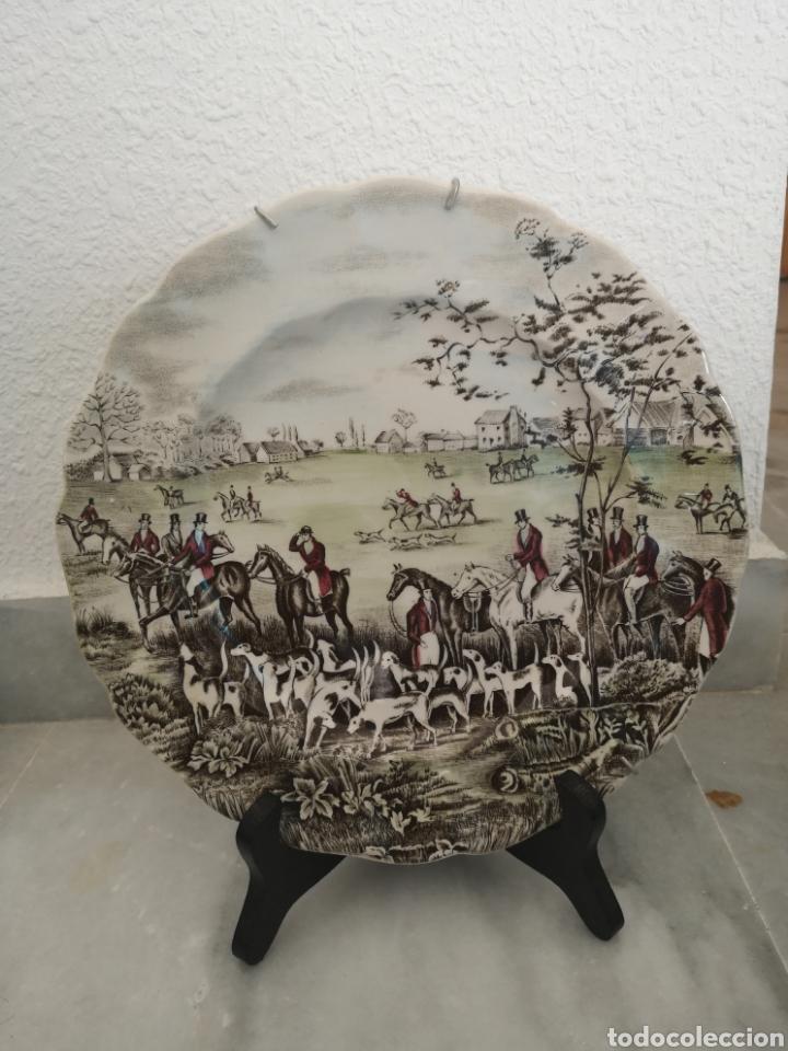 Antigüedades: Plato de porcelana inglesa Tally the meet Johnson Bros - Foto 2 - 262784760