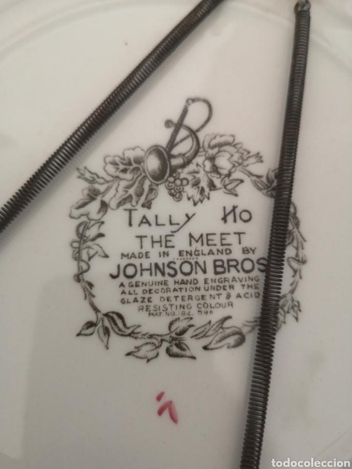 Antigüedades: Plato de porcelana inglesa Tally the meet Johnson Bros - Foto 3 - 262784760