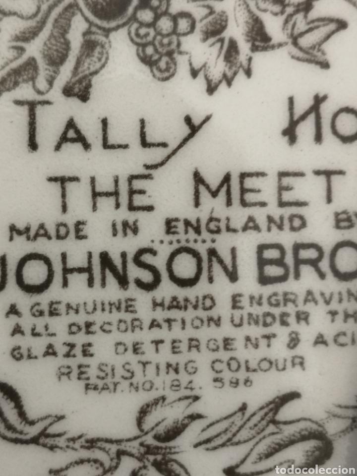 Antigüedades: Plato de porcelana inglesa Tally the meet Johnson Bros - Foto 4 - 262784760