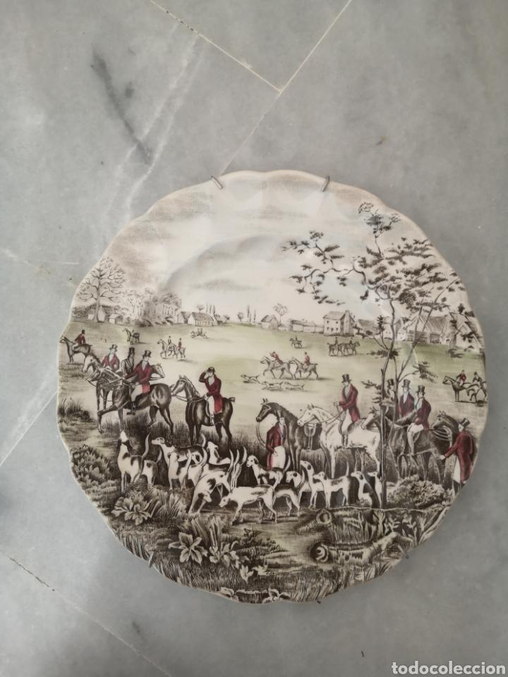 PLATO DE PORCELANA INGLESA TALLY THE MEET JOHNSON BROS (Antigüedades - Porcelanas y Cerámicas - Inglesa, Bristol y Otros)