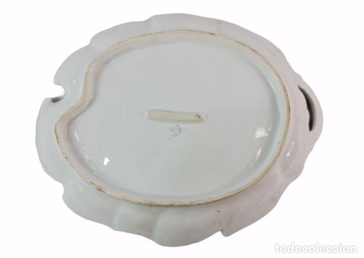Antigüedades: Bandeja centro de mesa. 1895. Porcelana Dresden. 25x20x4.5cm - Foto 5 - 262793785
