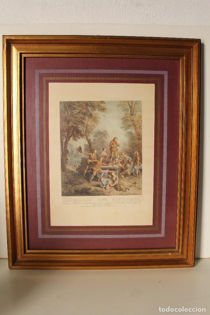 CUADRO MARCO LAMINA (Antigüedades - Hogar y Decoración - Marcos Antiguos)