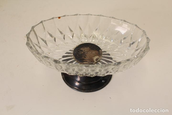 Antigüedades: frutero alpaca y cristal - Foto 4 - 262842540