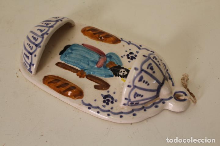 Antigüedades: benditera ceramica playá - lorca - murcia - Foto 3 - 262846495